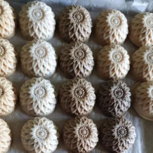 Jabones del leche de cabra elaborados por AMAZILIA en Torio, Veraguas. Rep. de Panamá